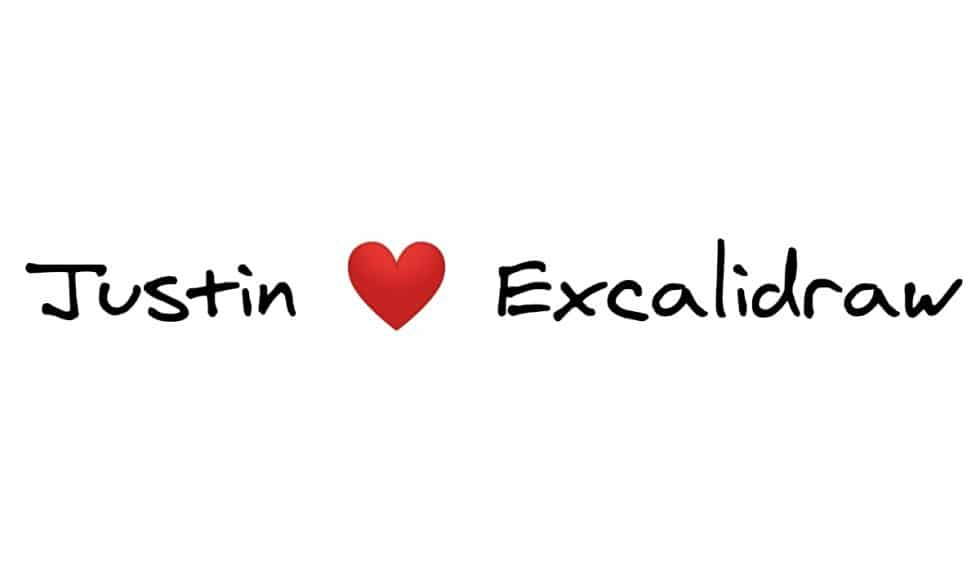 Justin love Excalidraw