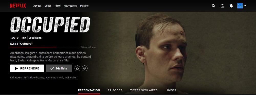 Occupied on Netflix