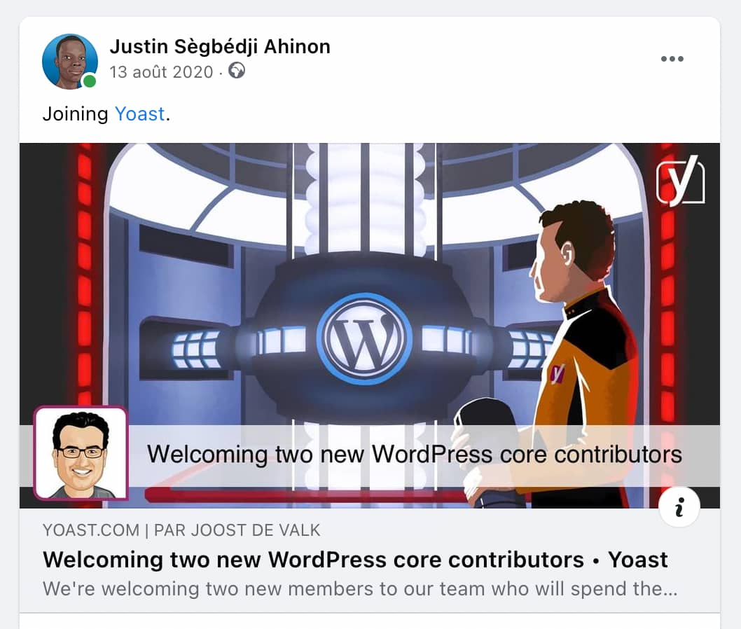 Joining Yoast, Facebook announcement