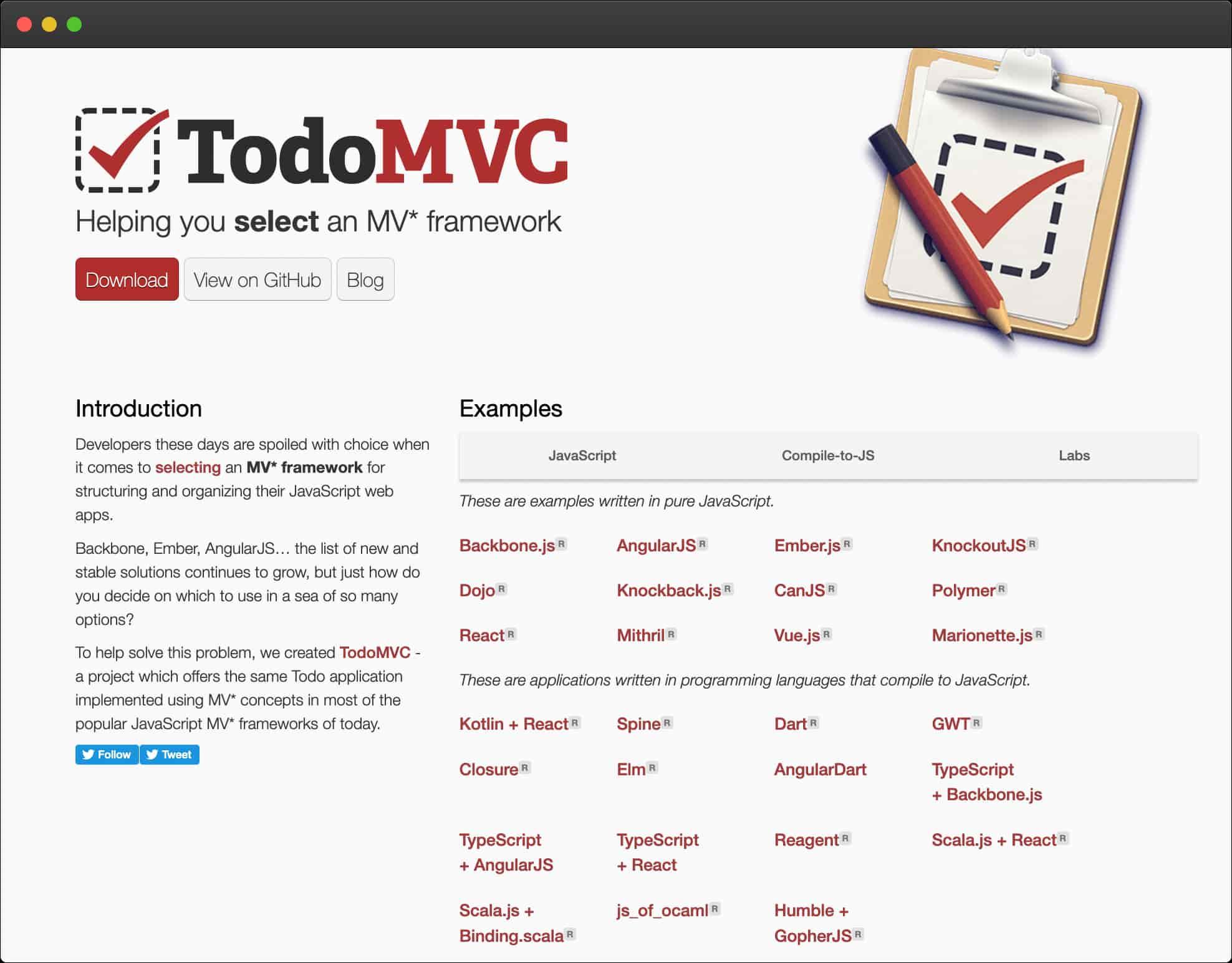 Page d'accueil Todo-MVC